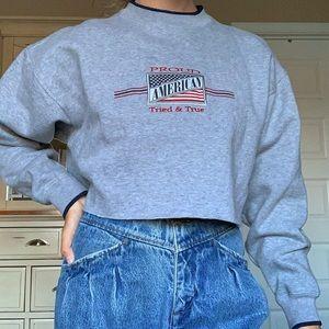 Vintage Americana Cropped Sweatshirt